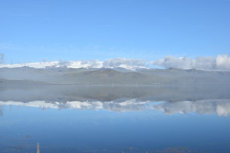 ледник близ деревни Вик
