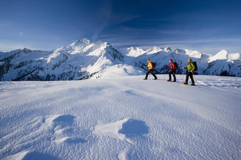 Schneeschuhtour zur Wildkarspitze, Zillertaler Alpen, Tirol, Österreich.