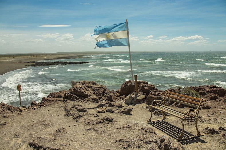 Атлантическое побережье в Пунта Томбо