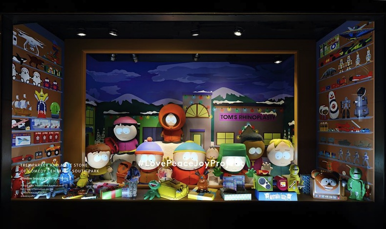 рождественские витрины Barneys