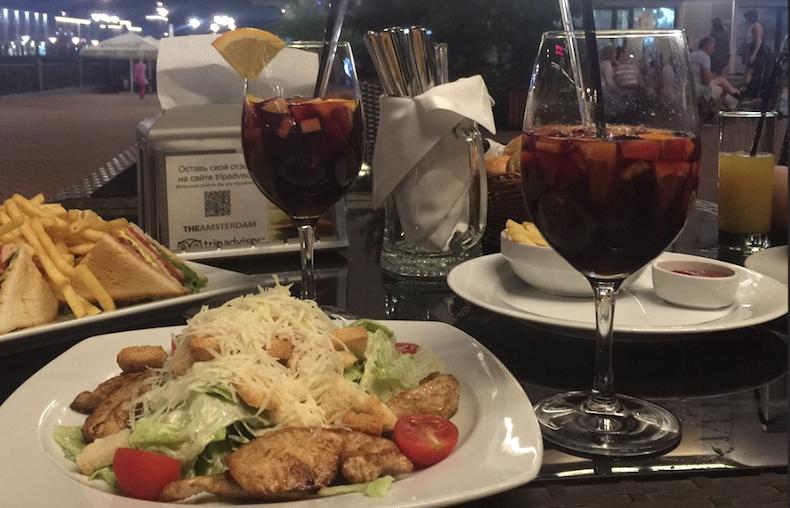 ужин в ресторане «The Amsterdam»