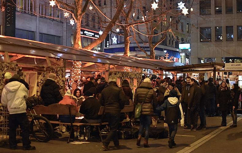 рождественский рынок Лозанны