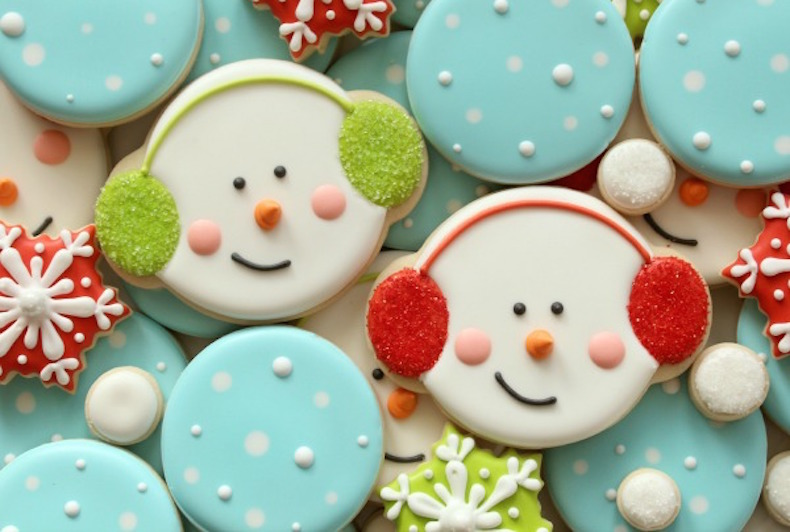 winter-snowman-cookies