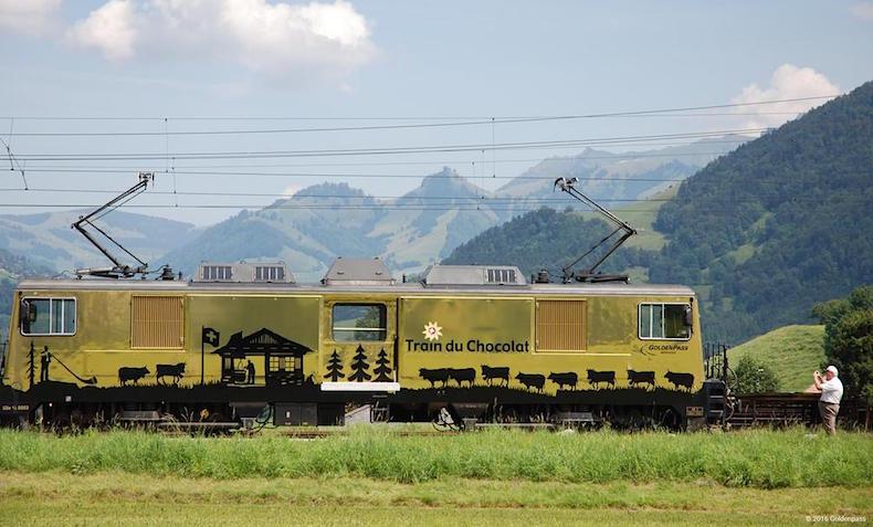 шоколадный поезд в Швейцарии
