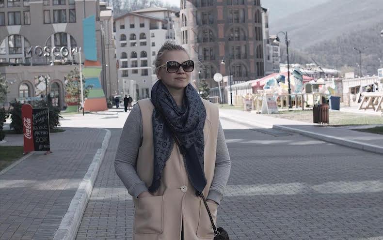 Катя в Роза-Хутор